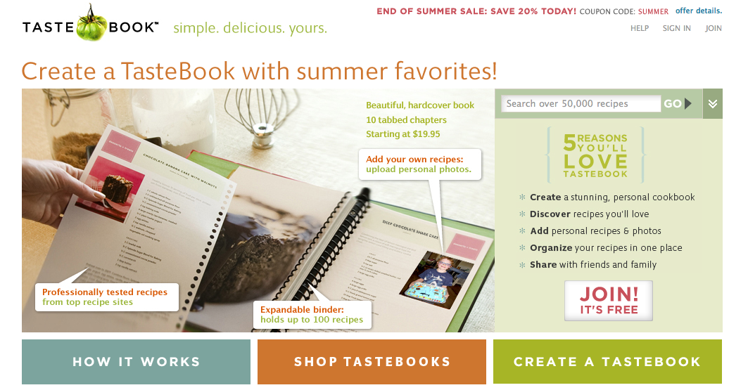 tastebook make your own custom cookbook with recipes from