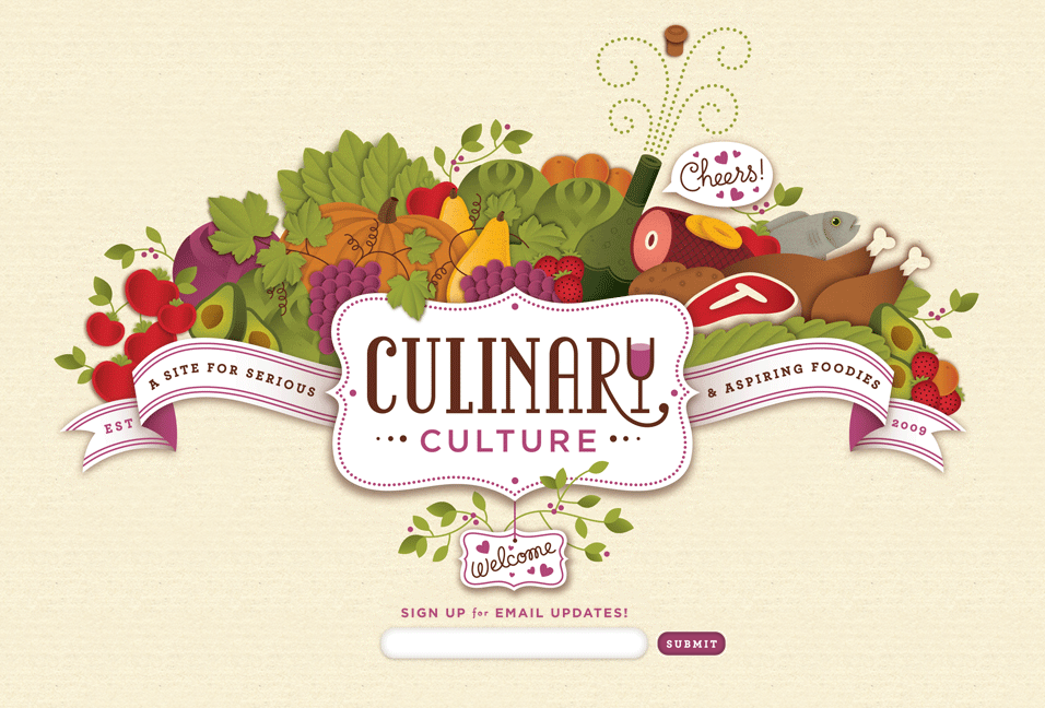 Coming Soon Signup Web Design Page from Culinary Culture ...