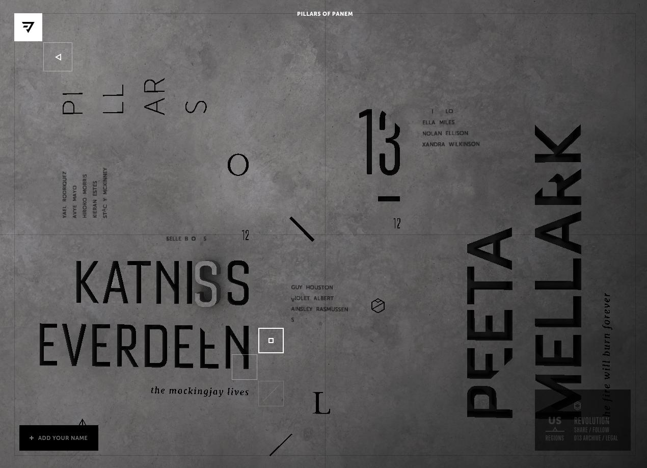 layout from revolition pillars of panem patterntap zurb library