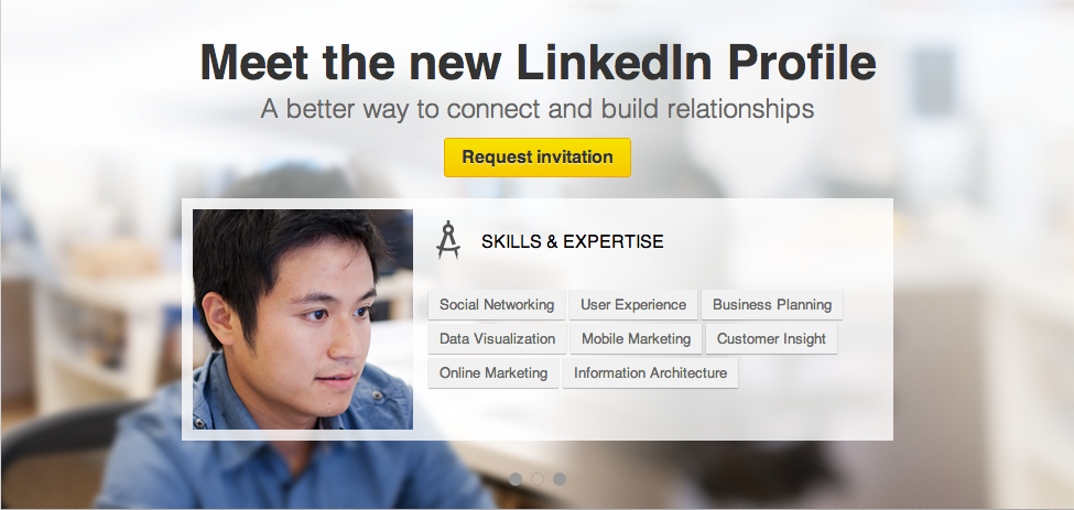 New Profile Feature Slider From Linkedin Patterntap Zurb