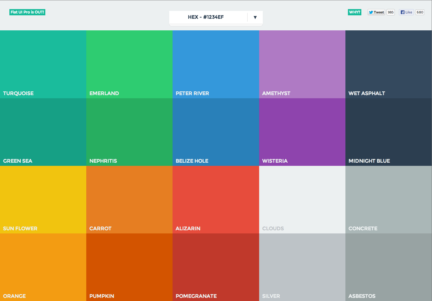 Color Palette From Flat Ui Colors Patterntap Zurb Library