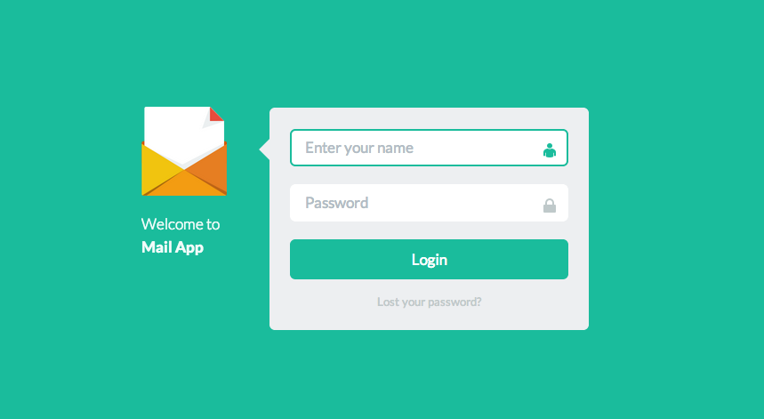 Form from Flat UI | PatternTap | ZURB Library