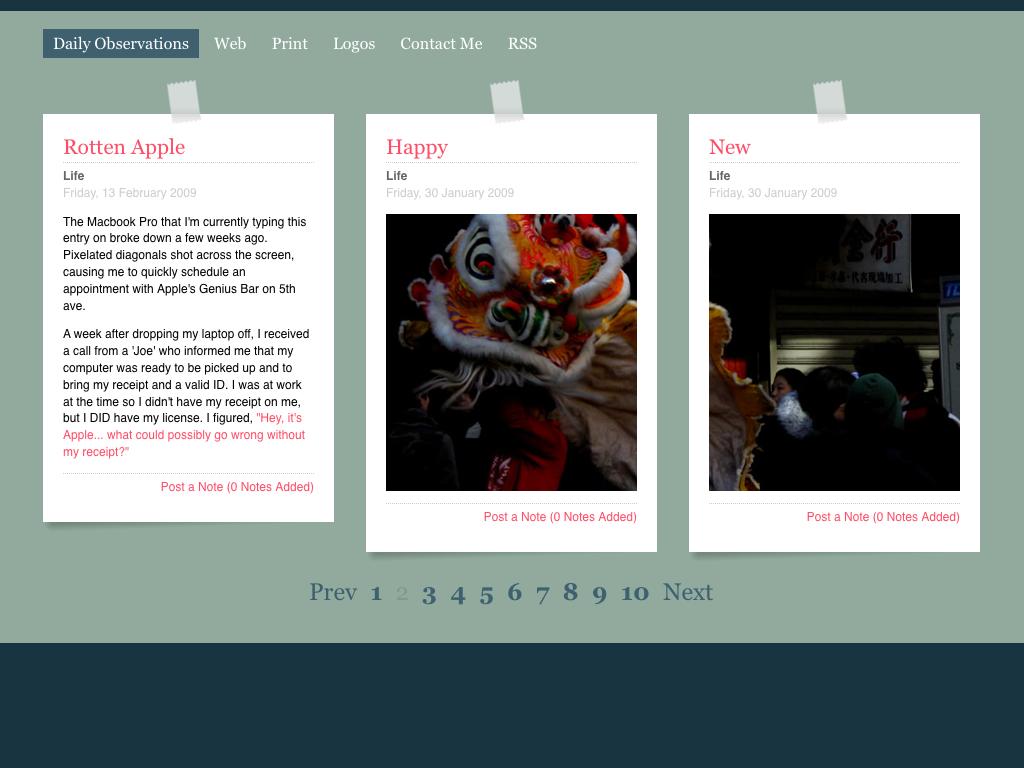 Unique Blog Web Design Layout from Genelu | PatternTap