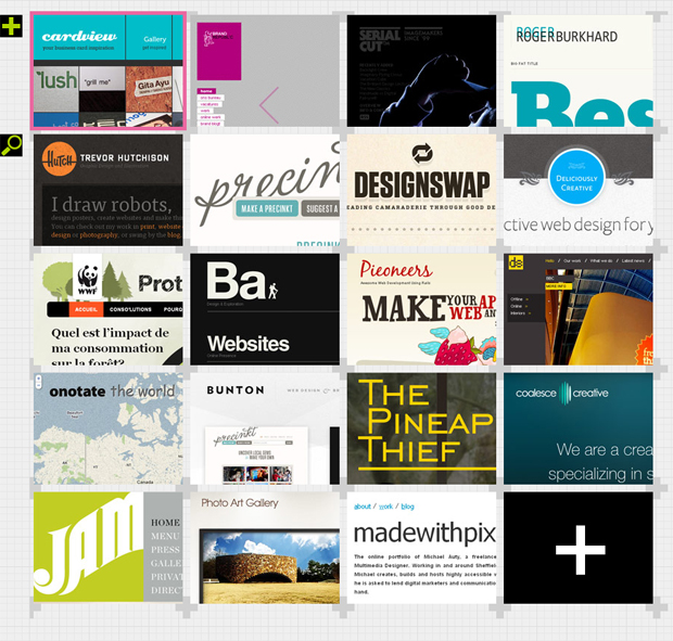 Strong Grid Layout for Design Inspiration Site Desey | PatternTap ...